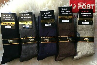 3 Pairs 6-11 80% Merino Wool Warm Thermal Woolen Hiking Dress Socks Bulk