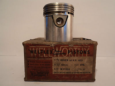 Pistons Rover Family 10, 1185cc,  10 HP 1933 Wellworthy WP1016
