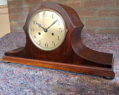 """BADUF"" GERMAN CHIMING  WALNUT MANTEL CLOCK.  Napolean Style, for Restoration"