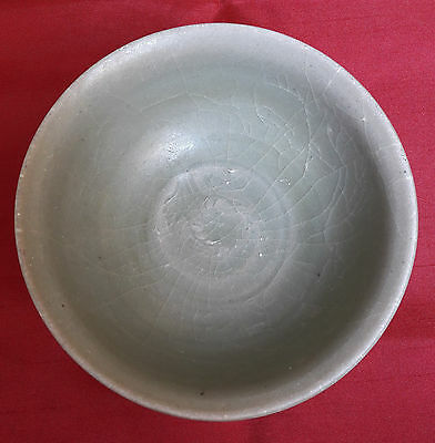 Old and Antique Chinese 14th Century Yuan Dynasty Longquan Celadon Bowl