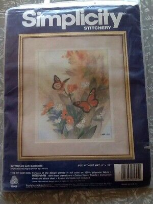 Simplicity Stitchery Kit ' Butterflies and Blossoms'