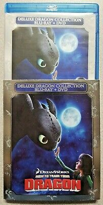 How to Train Your Dragon deluxe collection Blu-ray / dvd 3 disk set