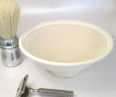 Shaving Bowl Suribachi  Ivory Hand Made/Crafted - Steve Woodhead Ceramics