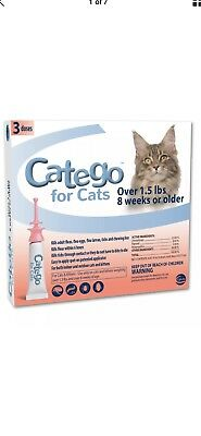 Catego Flea and Tick Control for Cats 6 Doses  *FREE SHIPPING*