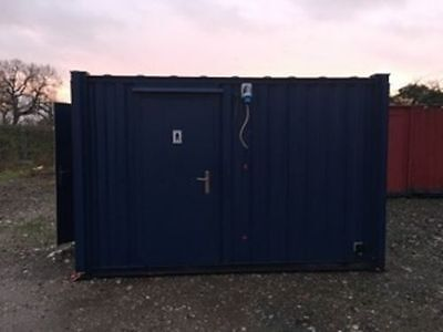 14ft x 9ft A/V SECURE TOILET BLOCK CONTAINER - Mens and Ladies