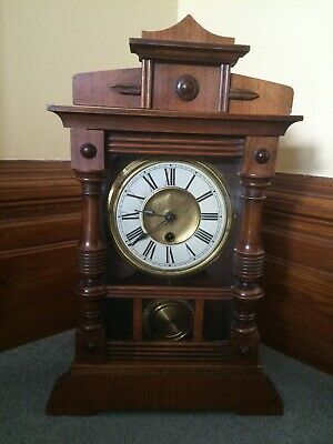 German Antique Wooden Clock - one day time piece
