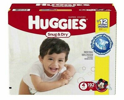 HUGGIES Snug & Dry Disposable Diapers Size 4 (22-37lbs) *Free 2 day ship *baby