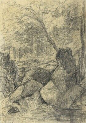 Thomas J. Marple, Torrent Walk, Snowdonia - Late 19th-century graphite drawing
