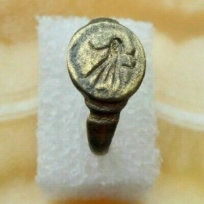Ancient Viking Old copper Fairy-tale status Ring with runic ornament RAR 8-12 AD
