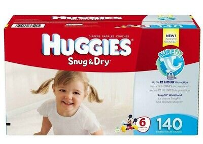 HUGGIES Snug & Dry Disposable Diapers Size 6 (35+lbs.) *Free 2 day ship *Baby