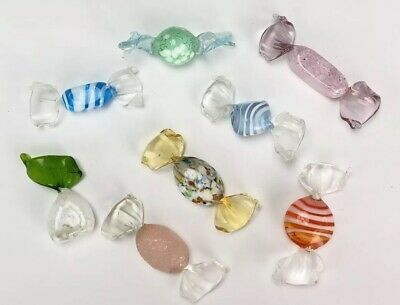 12 Pieces Decorative Vintage Murano Glass Wrapped Hard Candy 2 1 2