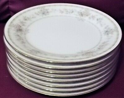 Noritake Applique China Lot of 8 Bread & Butter Plates 6 1/4""