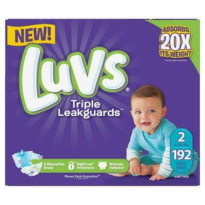 Luvs Ultra Leakguards Disposable Diapers Size 2 (12-18lbs) *Free 2 day ship Baby