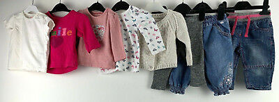 Baby Girls Clothes Bundle 3/6 Months Shirts Cardigan Jeans Smile Butterfly