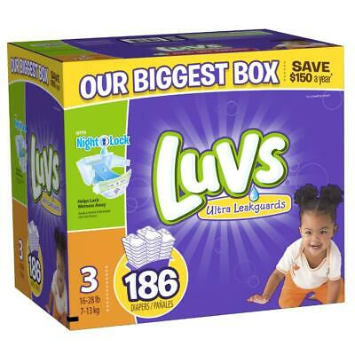 Luvs Ultra Leakguards Disposable Diapers Size 3 (16-28lbs) *Free 2 day ship