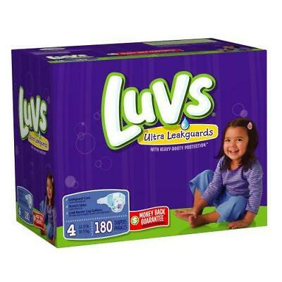 Luvs Ultra Leakguards Disposable Diapers Size 4 (22-37lbs) *Free 2 day ship
