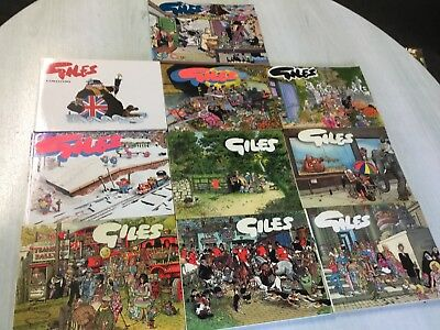 Set of Ten Giles Annuals Series 33 34 35 36 37 40 43 44 46 50 Good Condition