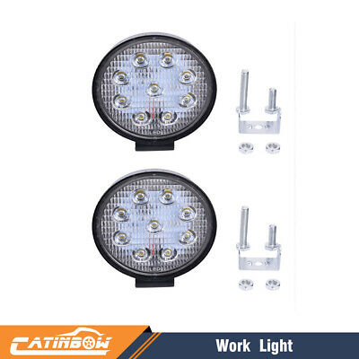 2pcs 4inch 27W Round LED WORK LIGHT BAR Spot Lamp Off-Road Driving Fog Lights US
