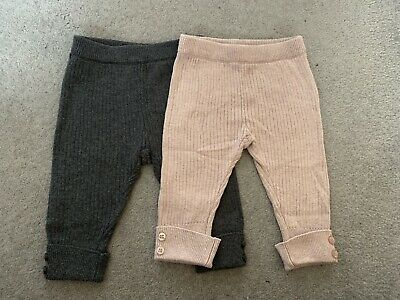 2 X Zara Mini Ribbed leggings 1-3 Months