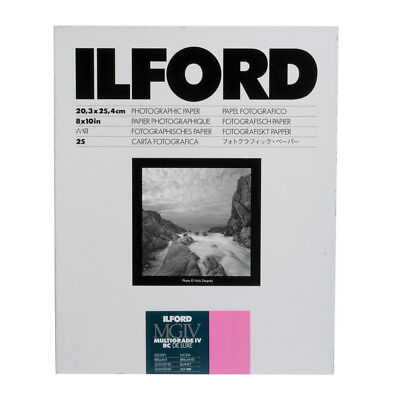 "ILFORD 8x10"" 25 Sheets MGIV Multigrade IV RC GLOSS Photographic Darkroom Paper"