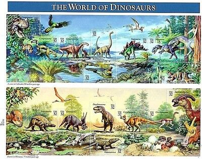"US SC 3136 ""The World of Dinosaurs""  1996 32¢ MNH OG USPS Souvenir Sheet VF"