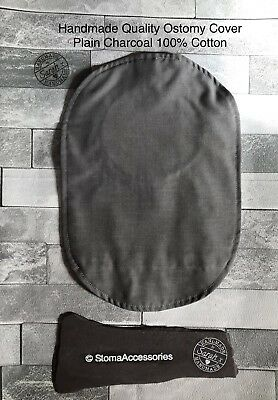 Funky, Fun Stoma bag pouch covers for Ostomy Ileostomy Colostomy - PlainCharcoal
