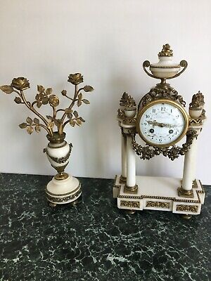 Vintage Brass Mantel Clock In Working Order