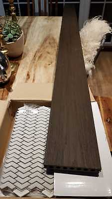 You are buying 2400x145x21mm. High Quality composite decking From £19 per SQM .