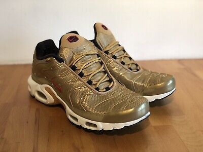 separation shoes cbbcc 929ad NIKE AIR MAX TN Plus Metallic Gold trainers UK 9 gold bullet