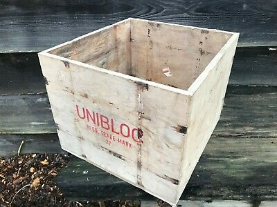 4 Large Vintage Wooden Crates (old box shabby chic storage cool rustic wedding
