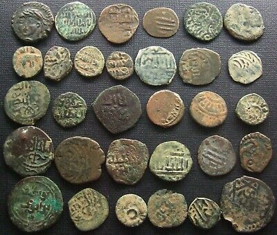 ISLAMIC Ancient and Medieval Lot of 31 Bronze and copper coins Various dynasties