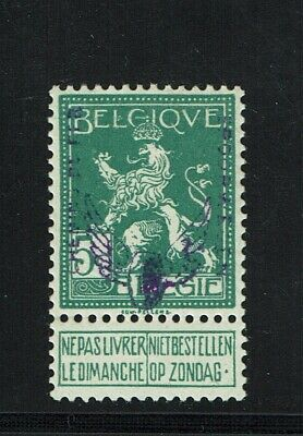 BELGIUM Q49 MINT LH VF+ Rare Parcel Post Overprint signed on reverse