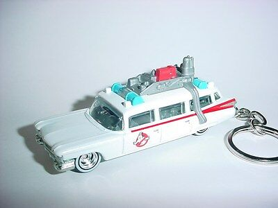 NEW 3D WHITE 1959 CADILLAC ECTO-ONE CUSTOM KEYCHAIN keyring GHOSTBUSTERS caddy