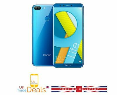 """New Sealed Huawei Honor 9 Lite Blue 5.65"""" 32 GB Dual Sim 4G Android 8 Smartphone"""