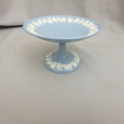 Vtg Wedgwood Cream on Lavender Blue Queensware Compote