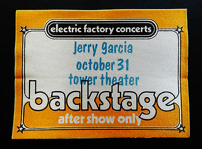 Jerry Garcia Backstage Pass Halloween Tower PA 10/31/81 10/31/1981 Grateful Dead