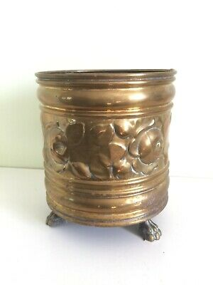 Brass pot with decorative design, vintage not reproduction