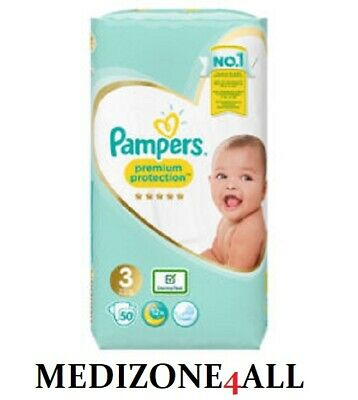 Pampers Premium Protection Baby Nappy 6-10Kg Size 3 - 50 Nappies FREE UK POST