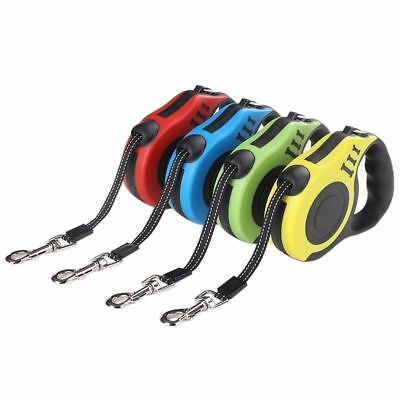 Durable Dog Leash Automatic Retractable Nylon Dog Lead Puppy Walking Leads UK