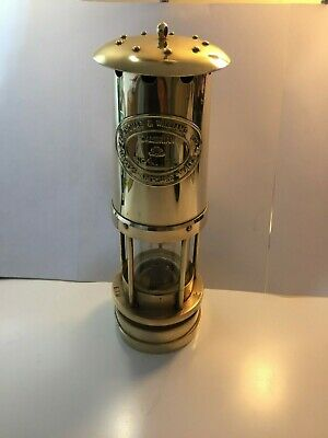 E.THOMAS & WILLIAMS Cambrian Vintage Brass Miners Lantern 41191