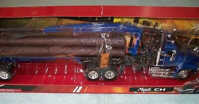 New Ray 1:32 Mack CH conventional w/ log trailer & logs, display kit/toy