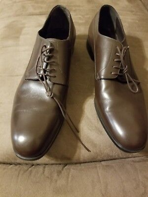 949cb1caeb9 Giorgio Armani Brown Leather Formal Dress Men s Shoes Casual 11. Worn once .