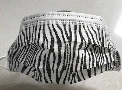 ***3 Ply Disposable ZEBRA Style Medical Face Masks-Box of 50p/c***