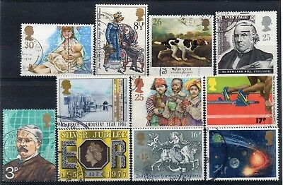 GB small selection of Very Fine Used Commemoratives (b)