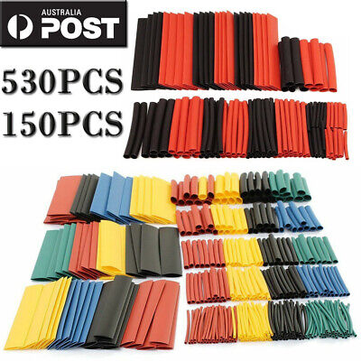 530/150X Heat Shrink Tubing Tube Assortment Wire Cable Insulation Sleeving Set A