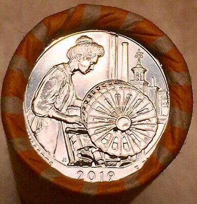 2019-D Lowell National Historical Park, MA uncirculated quarter roll (20 Coins)