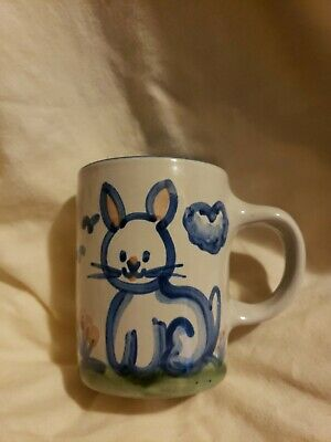 M. A. Hadley Rabbit Bunny Easter Coffee Cup