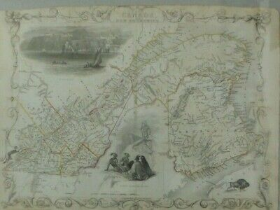 Incredible Antique Map Of East Canada - J. Rapkin 1850