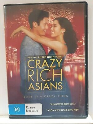 Crazy Rich Asians [ Region 4 DVD ] FREE Next Day Post from NSW