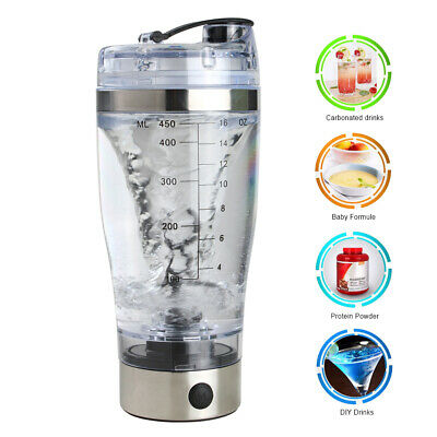 1x Electric Protein Shaker Bottle Vortex Mixer Cup Portable Blender Drink